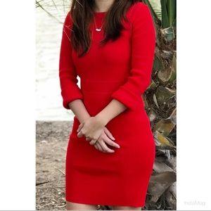 Zara red knit dress